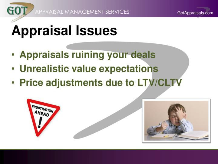 Appraisal issues