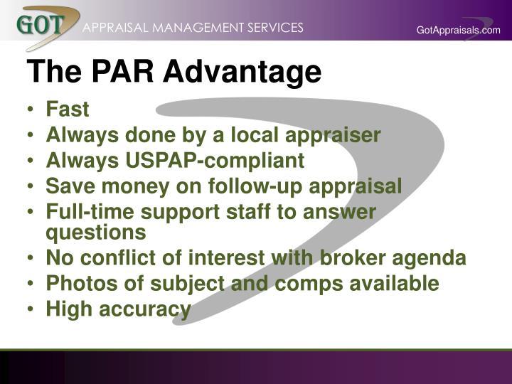 The PAR Advantage