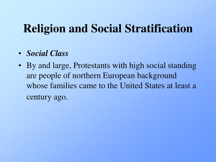 Religion and Social Stratification