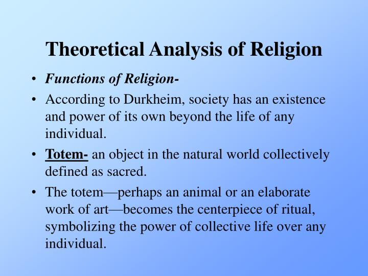 Theoretical Analysis of Religion