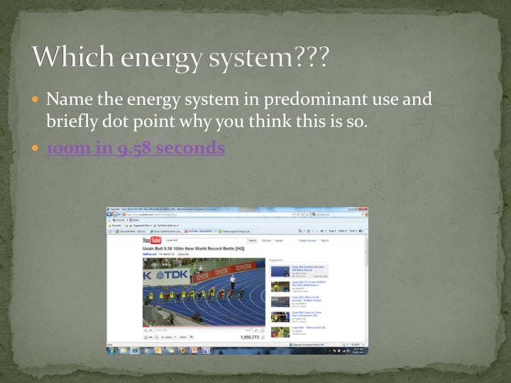 Which energy system???