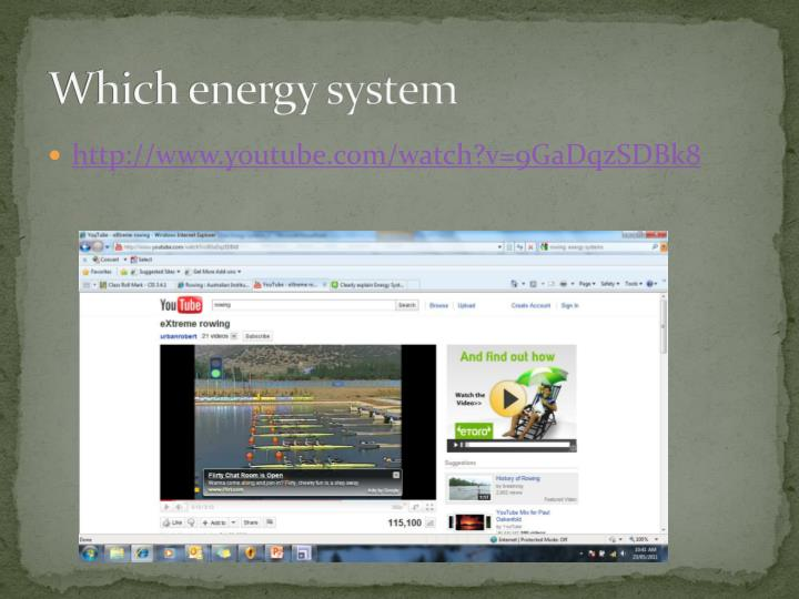 Which energy system