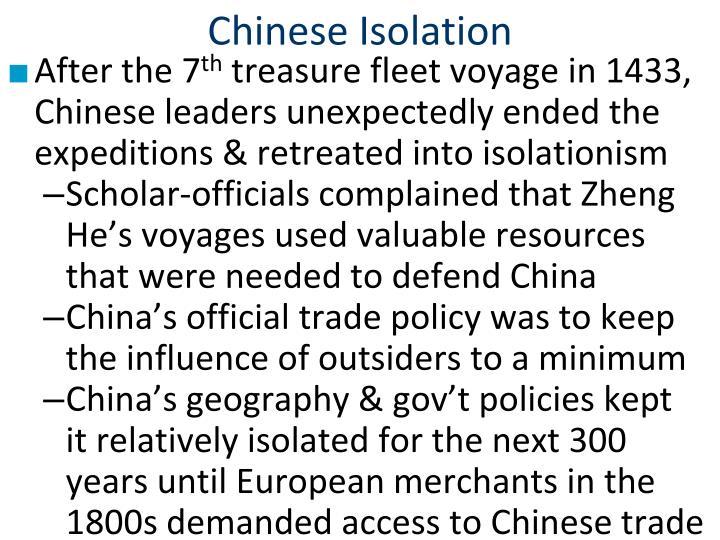 Chinese Isolation