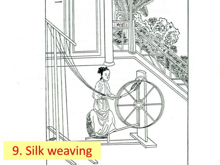 9. Silk weaving