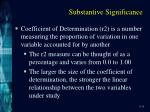 substantive significance