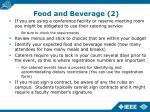food and beverage 2