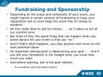 fundraising and sponsorship