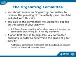 the organizing committee