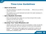 time line guidelines