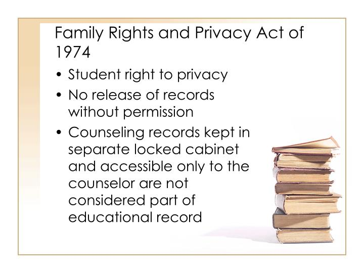 Family Rights and Privacy Act of 1974