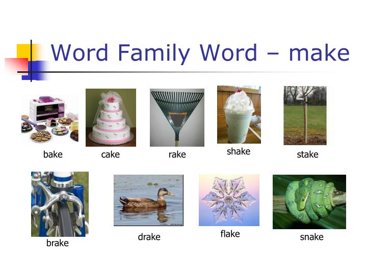 Word Family Word – make