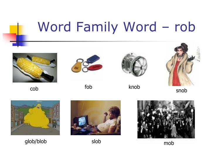 Word Family Word – rob