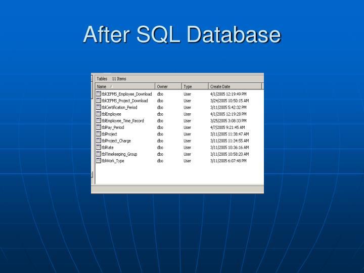 After SQL Database
