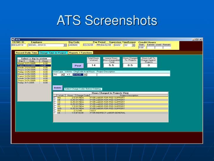 ATS Screenshots