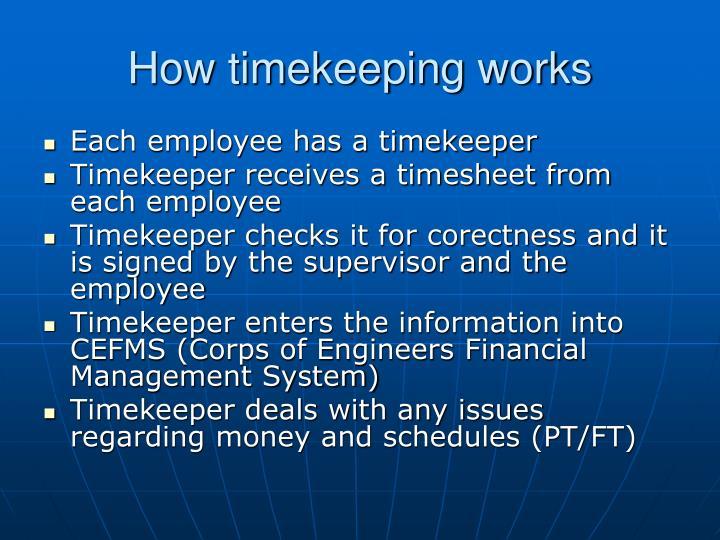 How timekeeping works