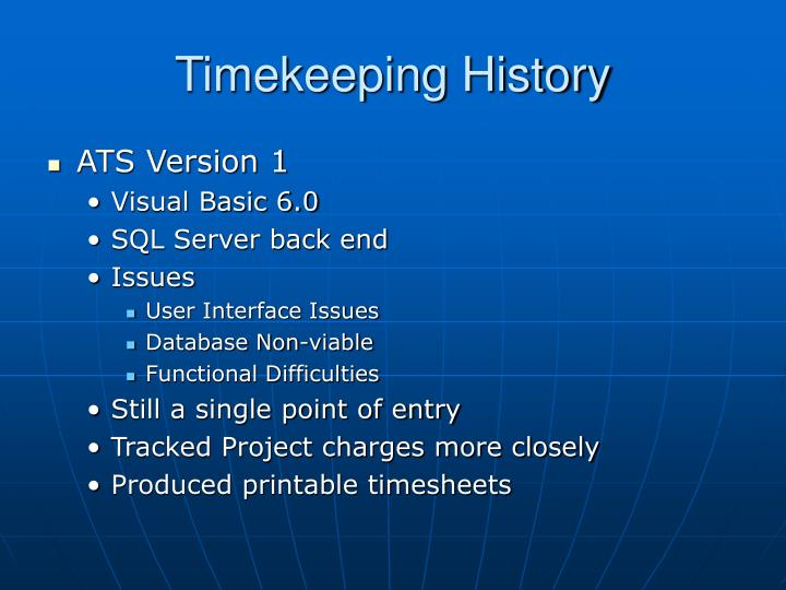 Timekeeping History