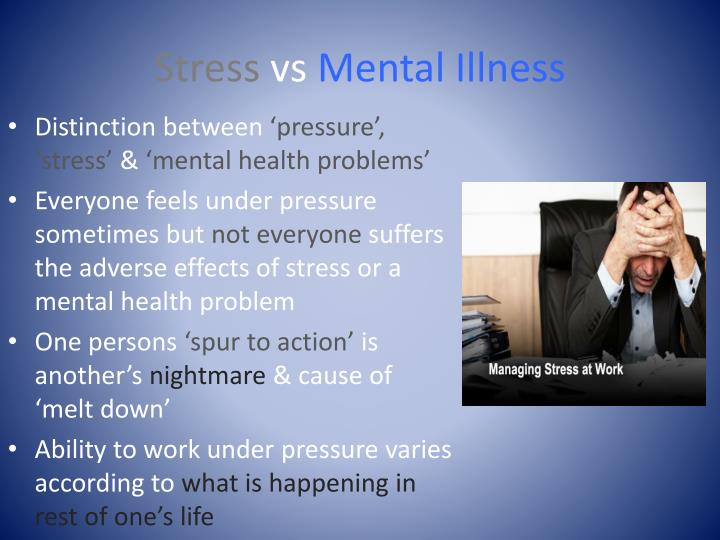 PPT - The manifestation of mental health issues in the workplace