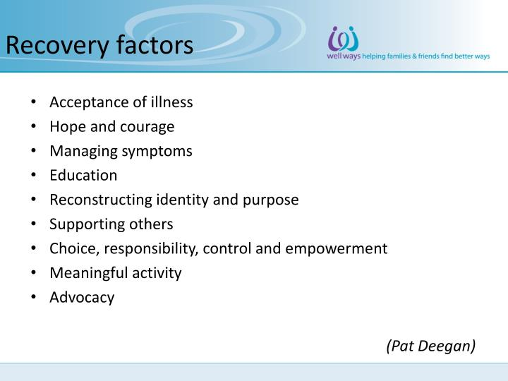 Recovery factors