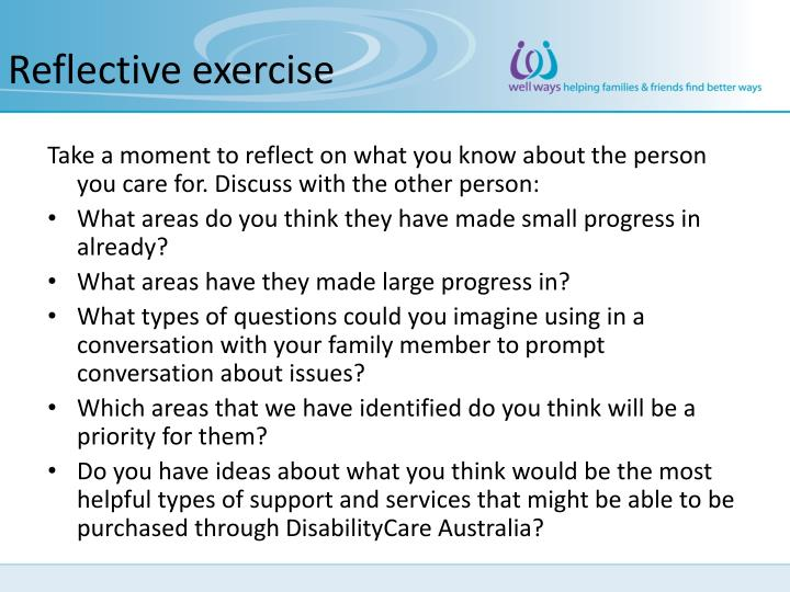 Reflective exercise