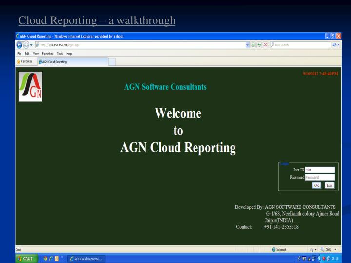 Cloud Reporting – a walkthrough