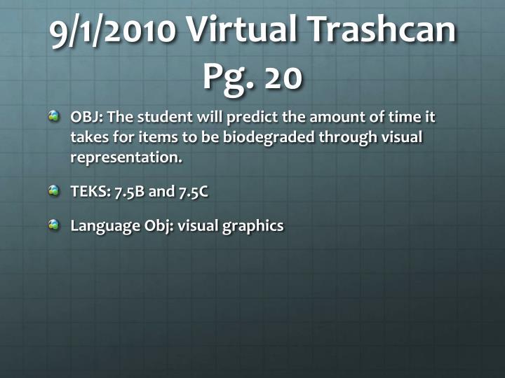 9/1/2010 Virtual Trashcan Pg. 20