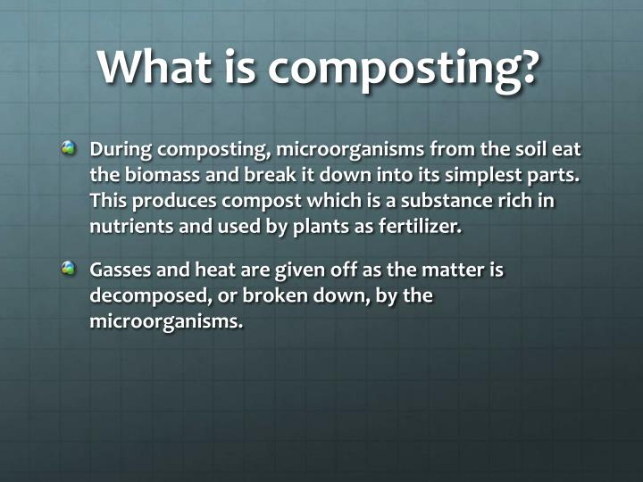 What is composting?