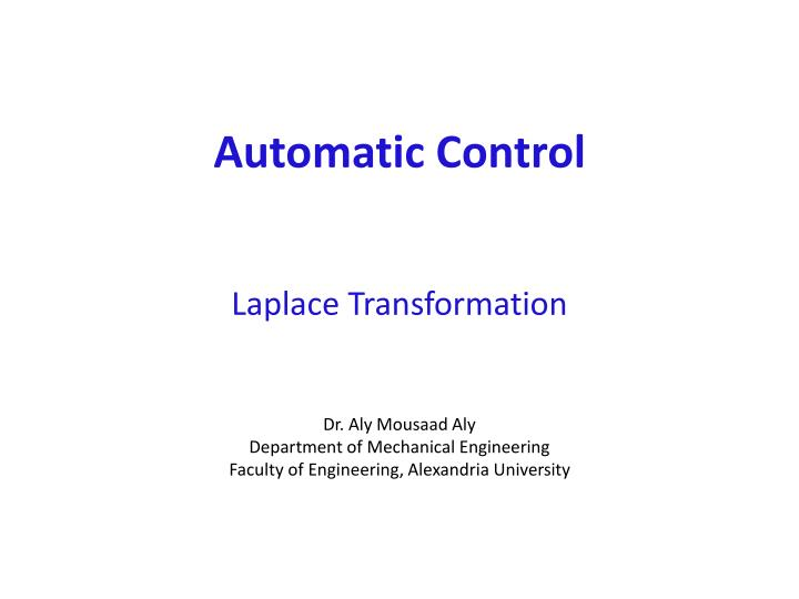 automatic control laplace transformation n.