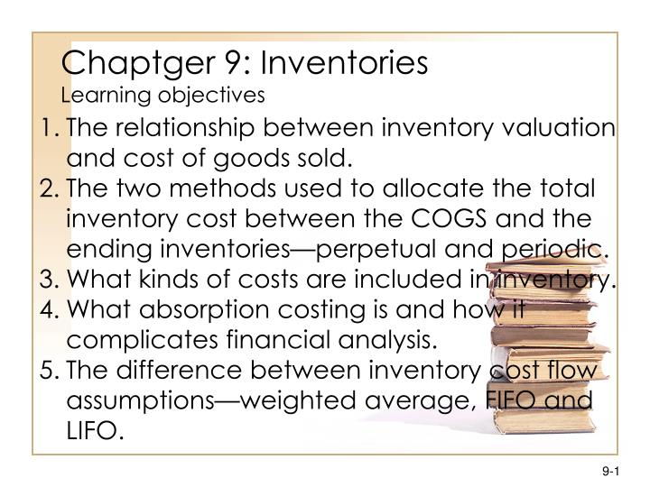 chaptger 9 inventories learning objectives n.