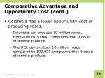 comparative advantage and opportunity cost cont2
