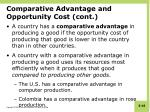 comparative advantage and opportunity cost cont4