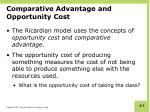 comparative advantage and opportunity cost