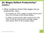 do wages reflect productivity cont