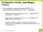 production prices and wages cont