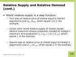 relative supply and relative demand cont4