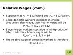 relative wages cont