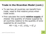 trade in the ricardian model cont4