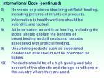 international code continued
