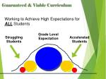 working to achieve high expectations for all students