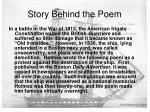 story behind the poem