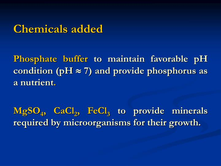 Chemicals added