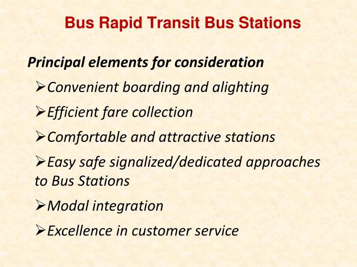 Bus Rapid Transit Bus Stations