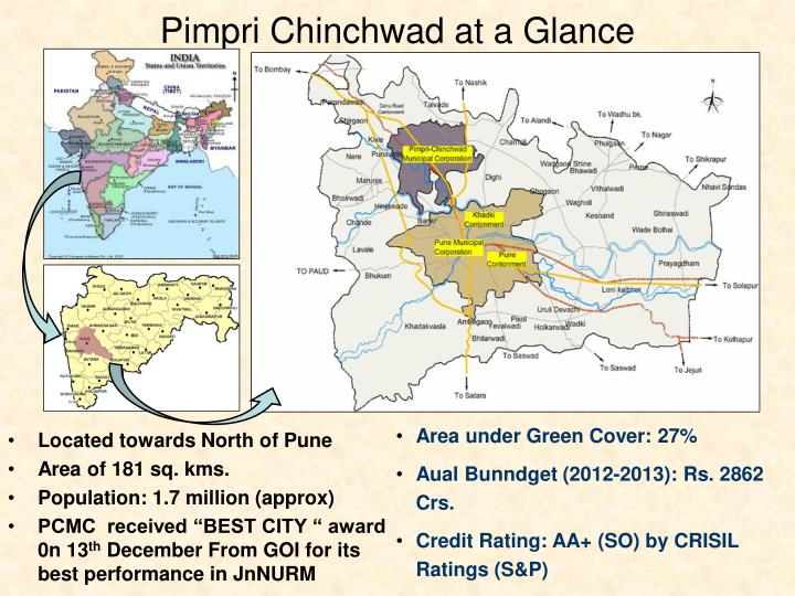 Located towards North of Pune