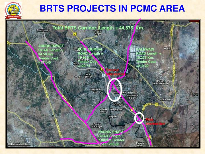 BRTS PROJECTS IN PCMC AREA