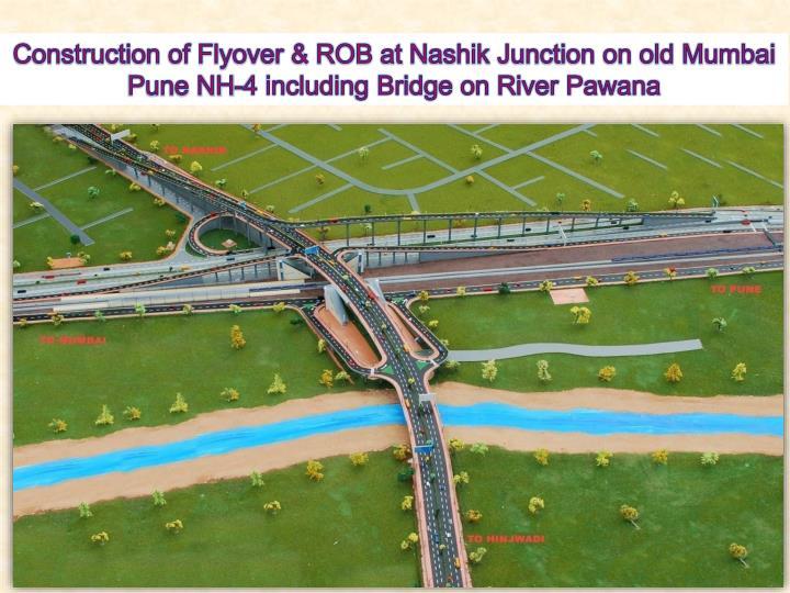 Construction of Flyover & ROB at Nashik Junction on old Mumbai