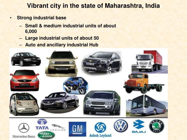 Vibrant city in the state of Maharashtra, India