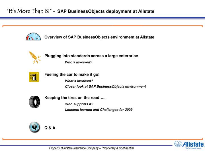 It s more than bi sap businessobjects deployment at allstate
