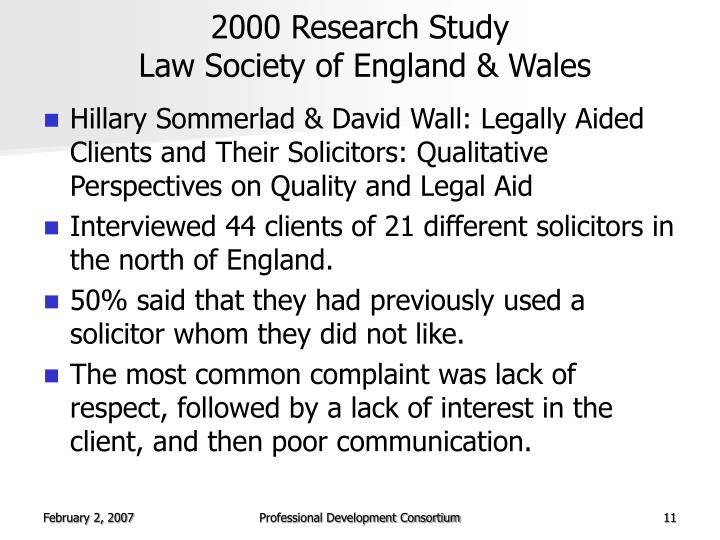2000 Research Study
