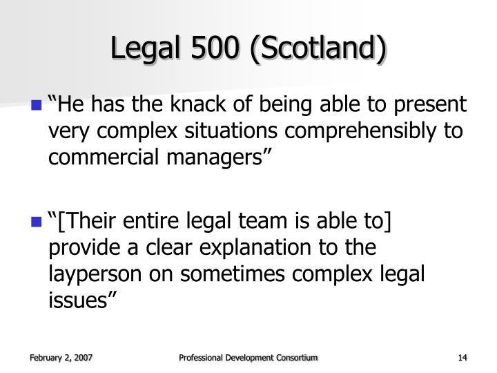 Legal 500 (Scotland)