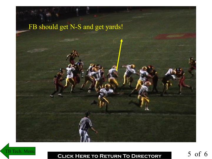 FB should get N-S and get yards!