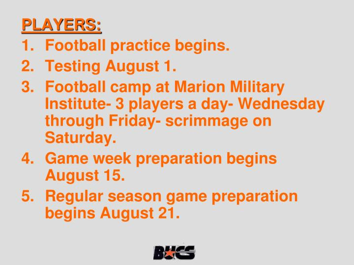 PLAYERS: